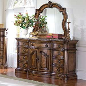 Amazon.com: San Mateo Dresser w/espejo: Kitchen & Dining