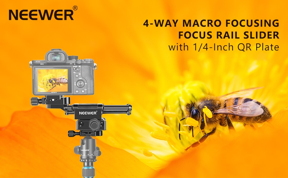 Olympus Samsung and Other Digital SLR Camera and Camcorders Sony Neewer 4-Way Macro Focus Rail Slider//Close-Up Shooting with 6-in-1 Timer Shutter Release for Canon Nikon Pentax