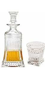 Decanter whiskey glasses