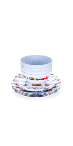dishware set; dishes; bowls; rv kitchen accessories; rv accessories; plates; camper