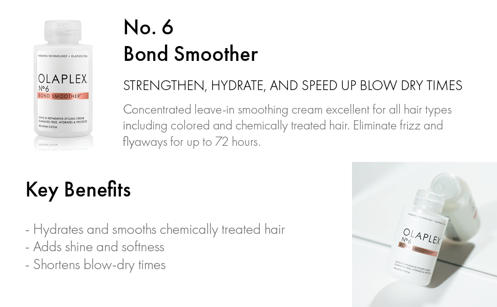 Bond smoother, strengthen, hydrate, and speed up blow dry times.