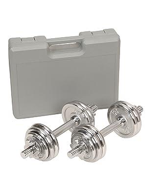adjustable Chrome Dumbells set