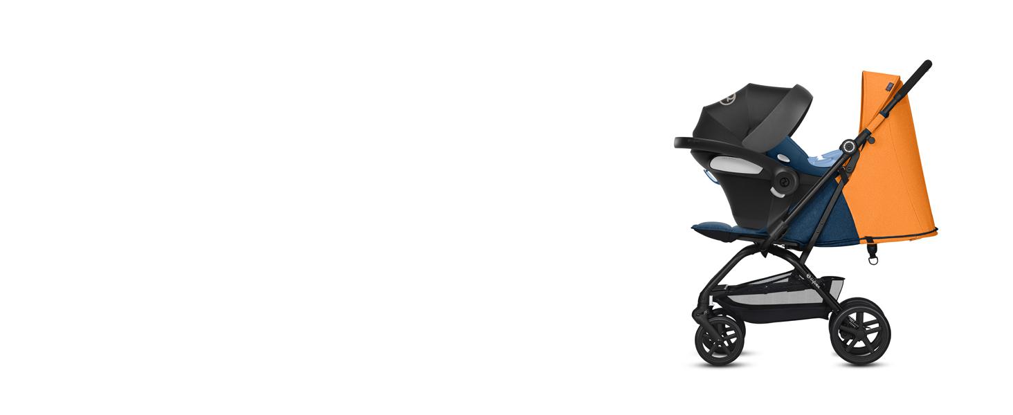 CYBEX Gold - Silla de Paseo Eezy S+, Plegable con una Mano, Ultracompacta y Ultraligera, desde el Nacimiento hasta 17 kg (aprox. 4 años), Colección ...