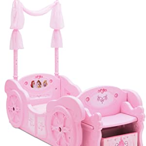 delta children princess carriage twin toddler bed conversion bedroom furniture girls