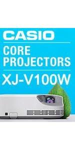 Casio XJ-V100W 079767468828 WXGA LED Hybrid Laser LCD Projector Home school office business HDMI