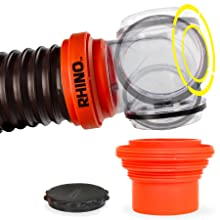 4-in-1 adapter; transparent elbow; RV sewer hose