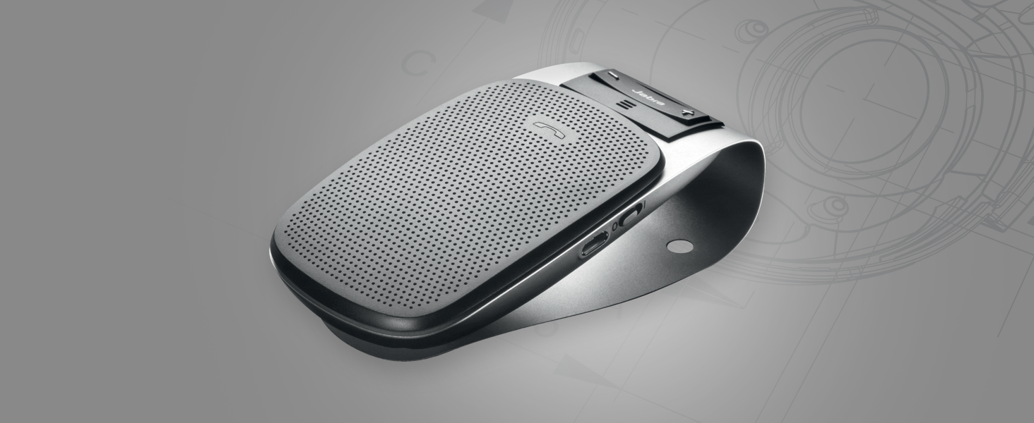A Bluetooth, in-car speaker with noise cancellation technology for clear calls in the car