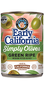 Simply Olives, Green Ripe, Pitted