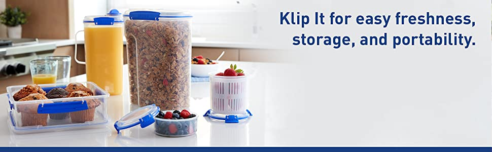 Sistema Klip It for easy freshness, storage, and portability.