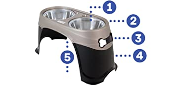 elevated pet bowls, elevated pet feeder, elevated dog bowls large breed,