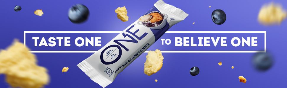 One Bar, One Brands, One Protein Bar, Protein Bar, Blueberry Cobbler Protein Bar, One