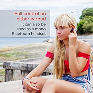 Full control on either earbud