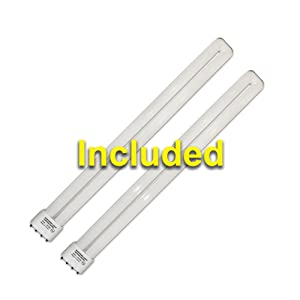 2 fluorescent bulbs by northern light technologies high power efficient long lasting 20,000 hour