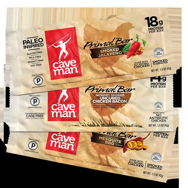 Caveman Primal Bar : Amazon caveman foods paleo primal bar mesquite bbq