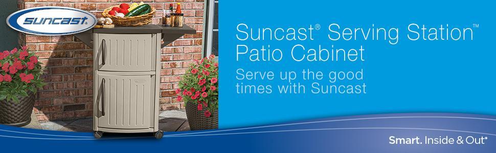 Amazon Com Suncast Outdoor Grilling Prep Station