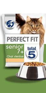 Croquettes; chat; stérilisé; senior; Perfect Fit