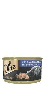 Dine Wet Cat Food Tin