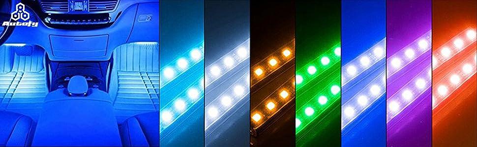 Atmosphere led light for car tata vista fiat punto activa swift baleno interior bike lamp wireless