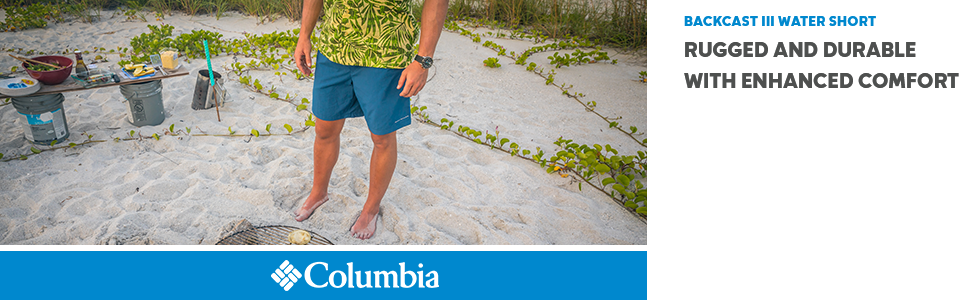 9dee1f3514 The Columbia Backcast III Water Short is an easy-to-wear, relaxed-fitting  pair of men's water shorts that are made from superior materials and  designed with ...