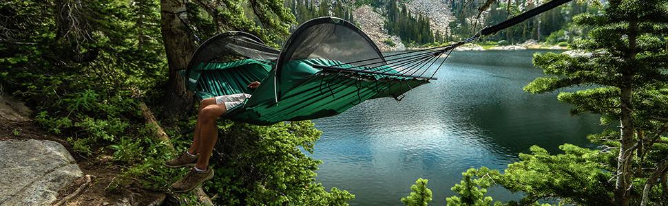 camping hammock, hammock, tent hammock, hammock tent, tree tent, bivy, - Amazon.com: Lawson Hammock Blue Ridge Camping Hammock, Forest
