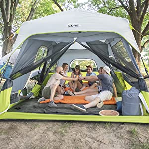 Core Equipment, Tent, Camping, Instant Tent, Cabin Tent, Camping gear