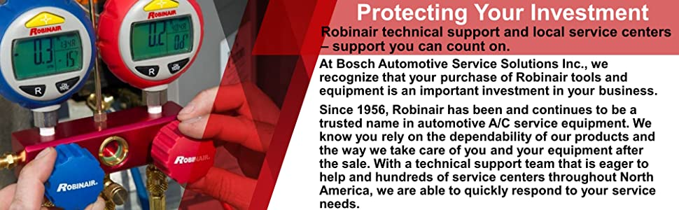 Robinair Automotive A/C HVAC Commercial residential tools equipment air conditioning service