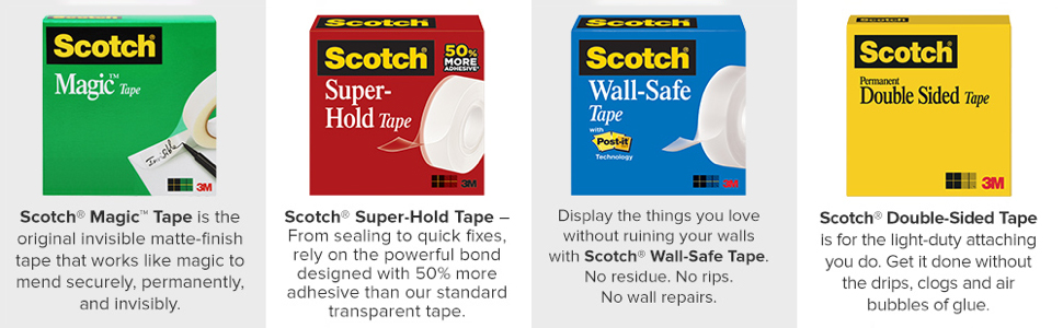 Scotch tape for dispensers