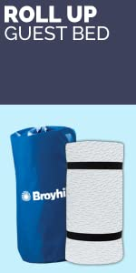 f67509272a423 Amazon.com - Broyhill Roll and Store Memory Foam Mattress  Roll-Up ...
