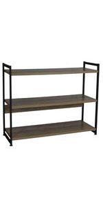 book shelves low profile 3 tier three