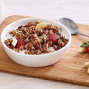 Kashi GO Chocolate Crunch Cereal tastes great with dairy or nut milk, yogurt or by itself as a snack