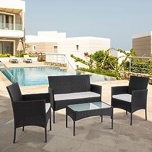 4 piece patio furniture