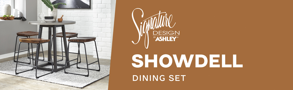 d205 showdell dining collection set table signature design by ashley furniture