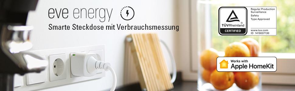 eve energy smarte steckdose mit verbrauchsmessung apple homekit unterst tzung bluetooth low. Black Bedroom Furniture Sets. Home Design Ideas
