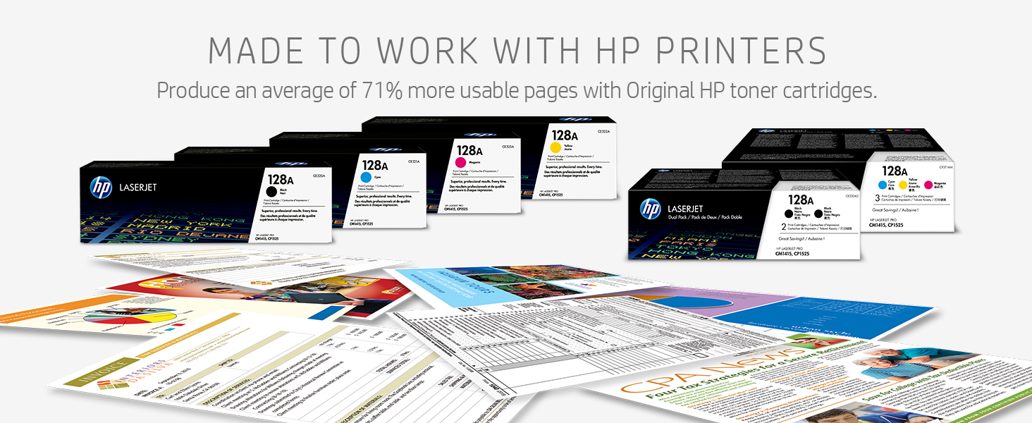black and white printing, cyan, magenta, yellow, HP toner, color printing, quality prints,