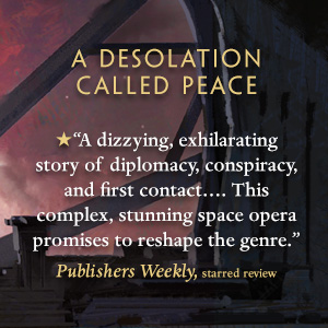 A Desolation Called Peace Arkady Martine Publisher's Weekly quote