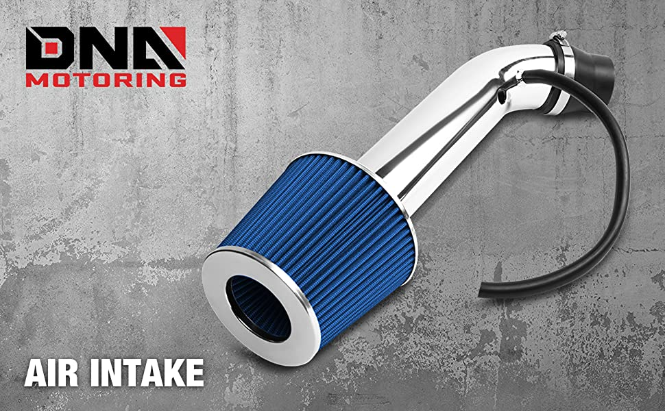 DNA Motoring ITK-0060-BL Blue Air Intake+Filter System Blue For 92-97 Honda Civic Del Sol ,Chrome
