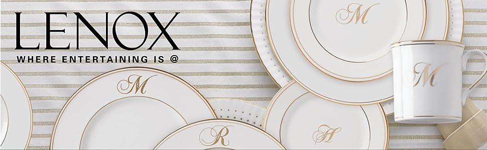Lenox, Lenoxx, Lennox, China, Script, Lenox Plate, Plate, Dinnerware, Cup, Fine China, Letters, Name
