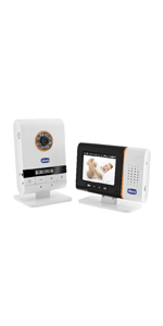 Chicco 00009329000000 Video Baby Monitor Smart 260, Bianco/Azzurro