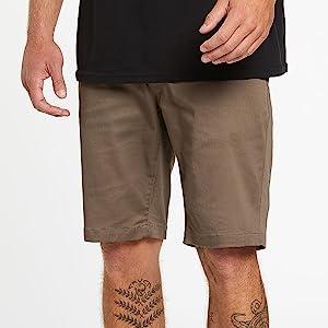 mens chino pants shorts khakis summer durable flexible