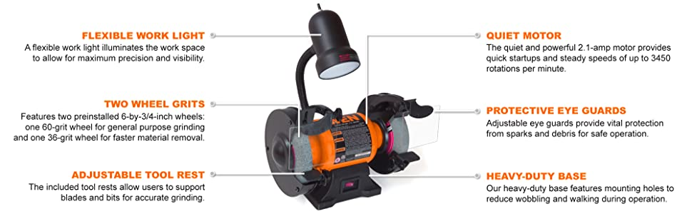Electric Bench Grinder Tool Best For Sale