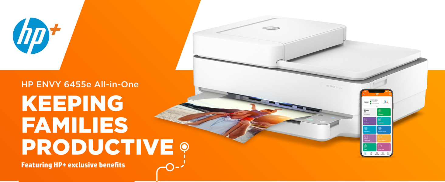 envy 6455e all in one printer hp+