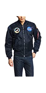 Amazon.com: Alpha Industries Men's MA-1 Flight Bomber Jacket: Clothing