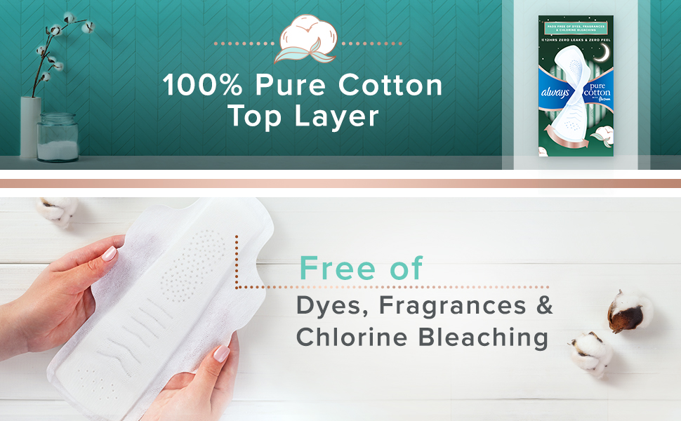 100% PURE COTTON TOP LAYER Free of Dyes, Fragrances amp; Chlorine Bleaching