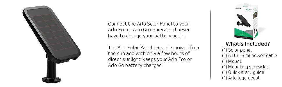 Arlo By Netgear Solar Panel Arlo Pro Amp Arlo Go