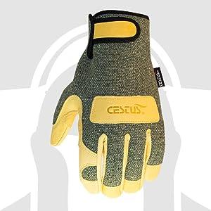 Work 2X-Large Pack of 1 Pair Cestus Welder Series WeldTech 1600C Flame Resistant Welding Glove Cut Resistant