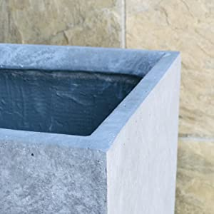 Made of durable and lightweight concrete