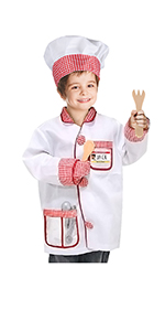 Chef Role Play Costume Cooking Dress up Set