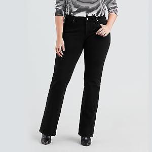9a92ac13dd882 Levi s Plus Denim Shaping Tops Hauts T-shirts Vestes Levi s Jeans Femmes  Pantalons Trucker PlusSize
