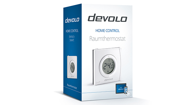 devolo Home Control Raumthermostat (Funk Thermostat
