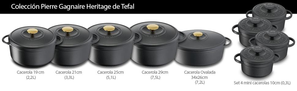Tefal E2230504 Cacerola 29 cm Heritage
